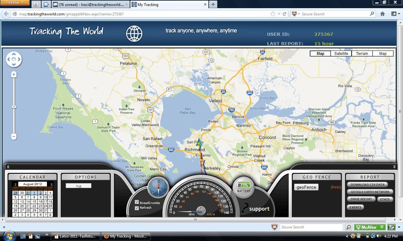 Gps Tracking Software Dashboard